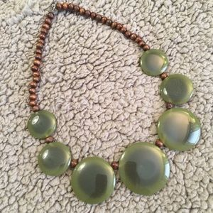 Jewelry - Vintage Flat Stone and Bead Necklace